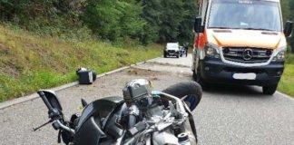 Das beschädigte Motorrad (Foto: Polizei RLP)