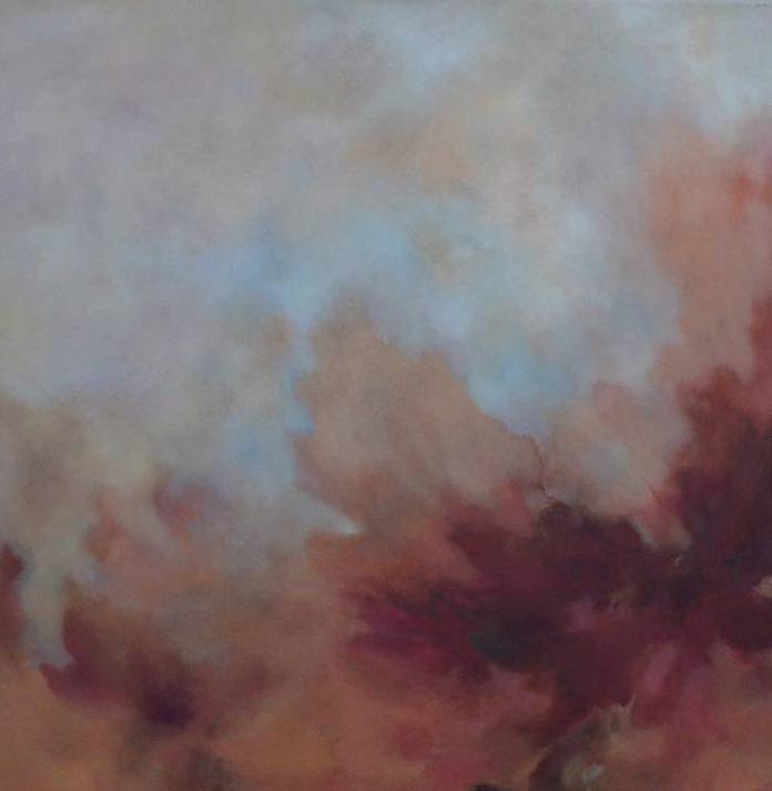 Christine Schön, o.T., Öl auf Baumwolle, 100 x 100 cm, 2017 (Foto: Christine Schön)