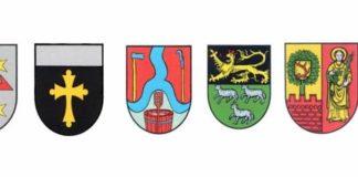 Wappen der Ortsgemeinden der Verbandsgemeinde Lambrecht (Quelle: VG Lambrecht)
