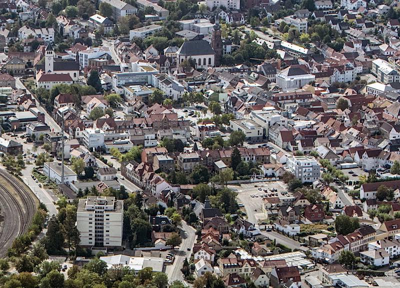 Grünstadt (Luftaufnahme, Foto: Helmut Dell)