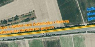 Während der kompletten Herbstferien ist die Abfahrt Dudenhofen-Süd voll gesperrt. Die Umleitung erfolgt über die Abfahrt Dudenhofen-Nord. (Quelle: LBM Speyer)