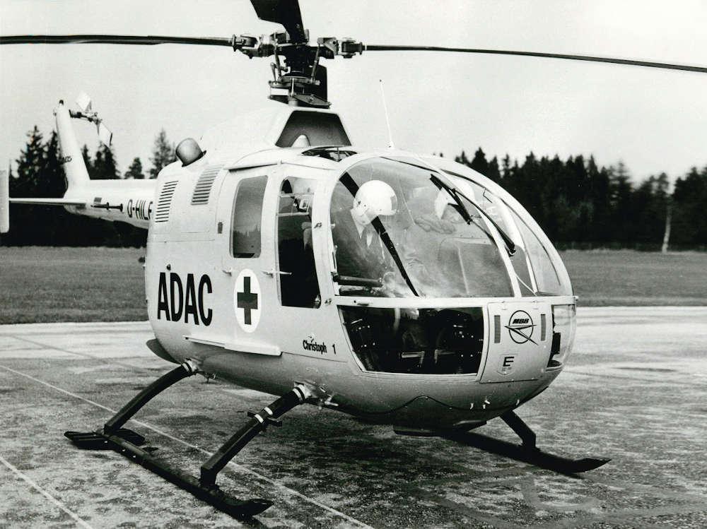 Start als ADAC Rettungshubschrauber