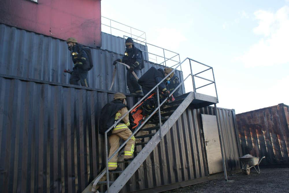 Übung im Training- und Kompetenzzentrum RLP in Miehlen (Foto: Presseteam der Feuerwehr VG Lambrecht)