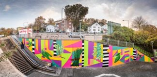 Graffiti-Kunst an der S-Bahn-Station Mühlberg (Foto: DB AG)