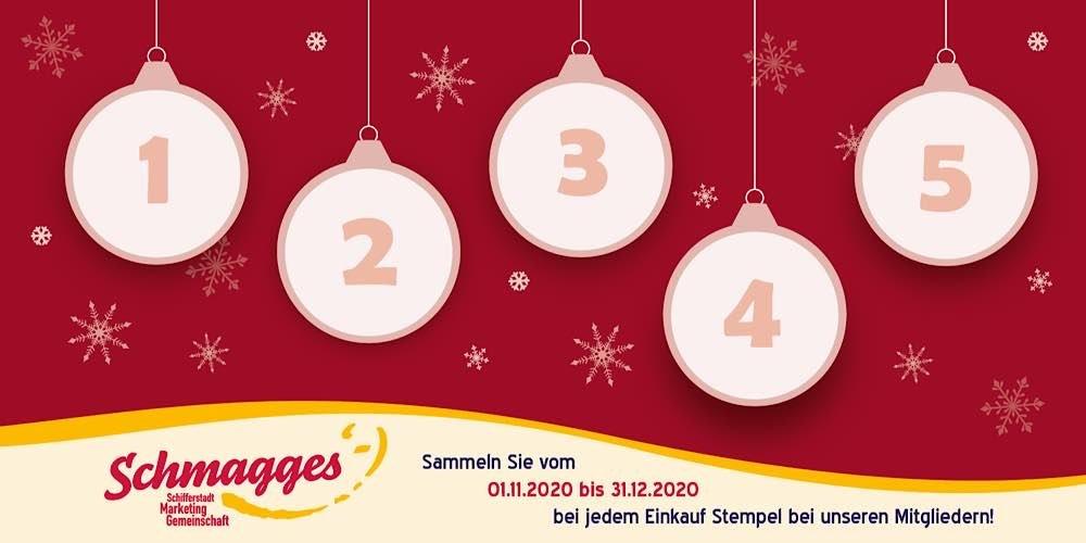 Weihnachtsstempeln mit der Schifferstadt-Marketing-Gemeinschaft