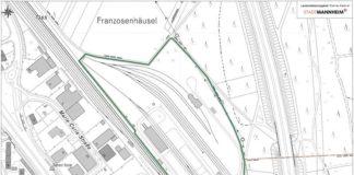 Karte LSG Ehemalige Rheinau-Kaserne (Quelle: Stadt Mannheim)