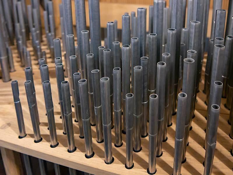 Die Cornett Orgelpfeifen (Foto: Joachim Weller)
