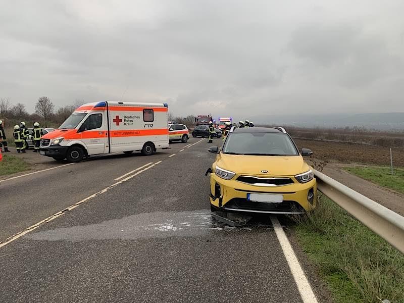 Verkehrsunfall auf der L 519 (Foto: Polizei RLP)