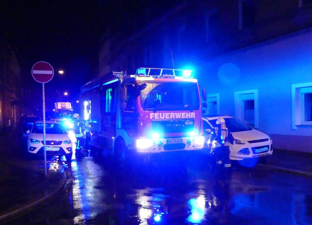 Feuerwehreinsatz in der Richard-Wagner-Straße (Foto: Feuerwehr Neustadt)
