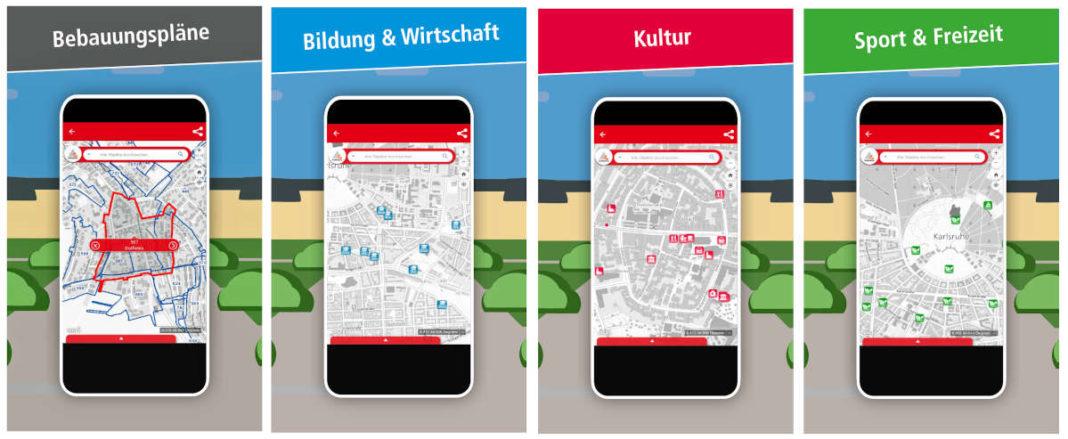 Einen komfortablen Zugang per Smartphone zu einer Vielzahl von Informationen ermöglicht die neue KA-GeoApp (Quelle: Stadt Karlsruhe)
