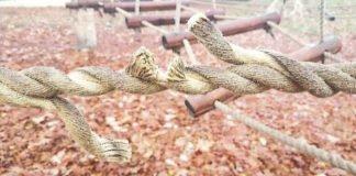 Beschädigtes Seil (Foto: Polizei RLP)