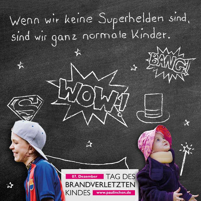 Aktionsbild Superhelden (Foto: Paulinchen - Initiative für brandverletzte Kinder e.V.)