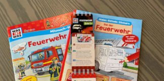 """Die Geschenke an die Jugend: Mitmach-Bücher und Quiz, eben ein bisschen """"Feuerwehr"""" für zuhause. (Foto: VGV Annweiler)"""