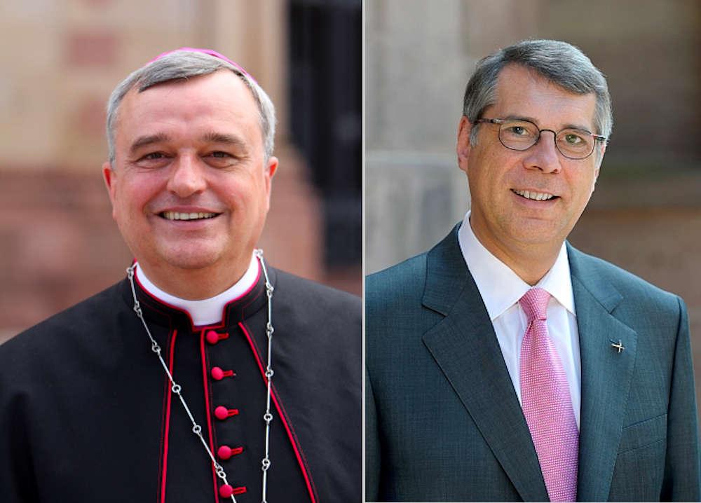 Bischof Karl-Heinz Wiesemann und Kirchenpräsident Christian Schad (Fotos: Bistum Speyer / EKP)