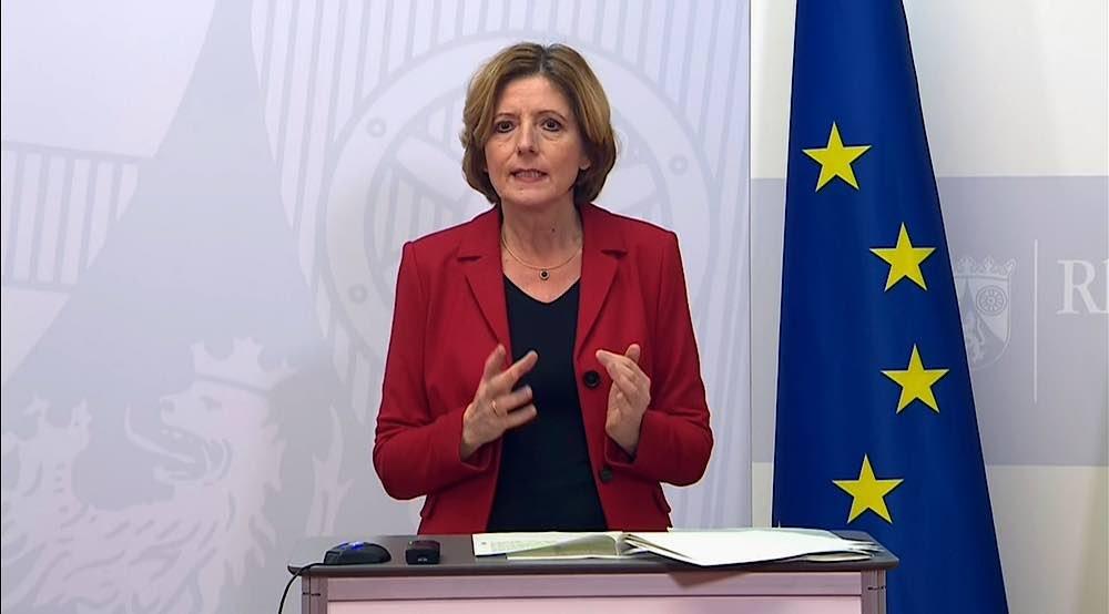 Ministerpräsidentin Malu Dreyer am 08.01.2021 (Foto: Internet/Staatskanzlei)
