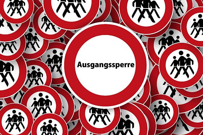 Symbolbild Ausgangssperre (Foto: Pixabay/Gerd Altmann)