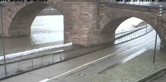 Webcam Alte Brücke (Quelle: Stadt Heidelberg, 27.01.2021, 14:30 Uhr)
