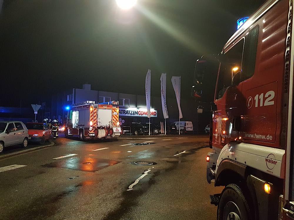Einsatz in der Martin-Luther-Straße (Foto: Feuerwehr Neustadt)