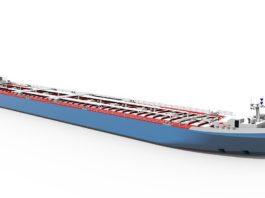 BASF stellt innovatives Tankschiff für Rhein-Niedrigwasser vor (Foto: Technolog)