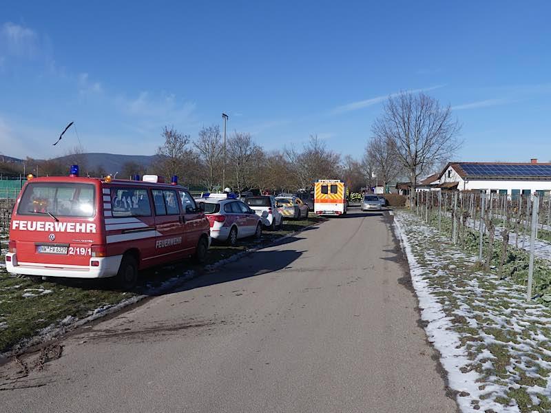 Einsatz im Bereich Sportzentrum Pferdsaliment (Foto: Feuerwehr Neustadt)