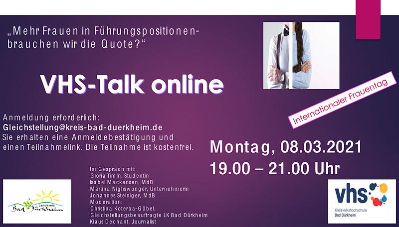 VHS-Talk online (Quelle: KVHS Bad Dürkheim)