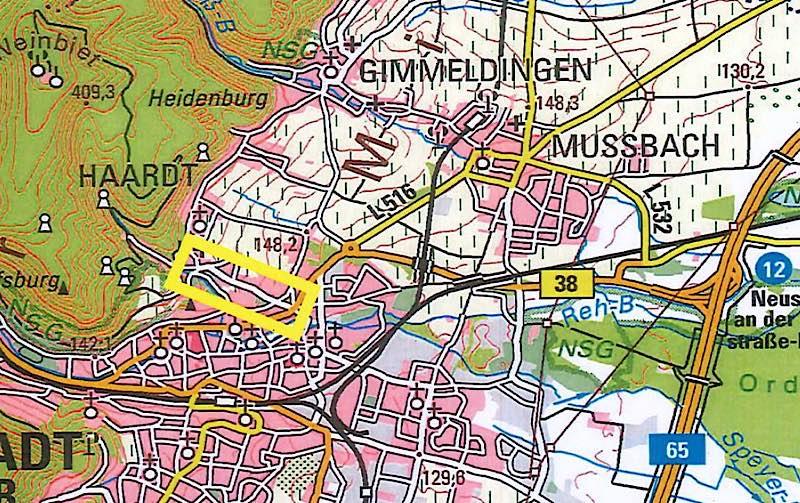 Das Bild zeigt den betroffenen Bereich. (Quelle: Stadtverwaltung Neustadt)