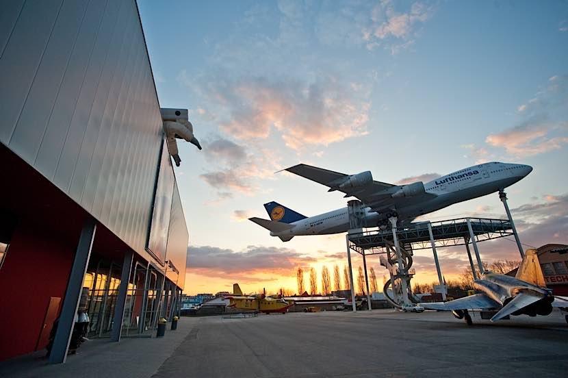 Blick auf die Boeing 747 im Technik Museum Speyer (Quelle TMSP)