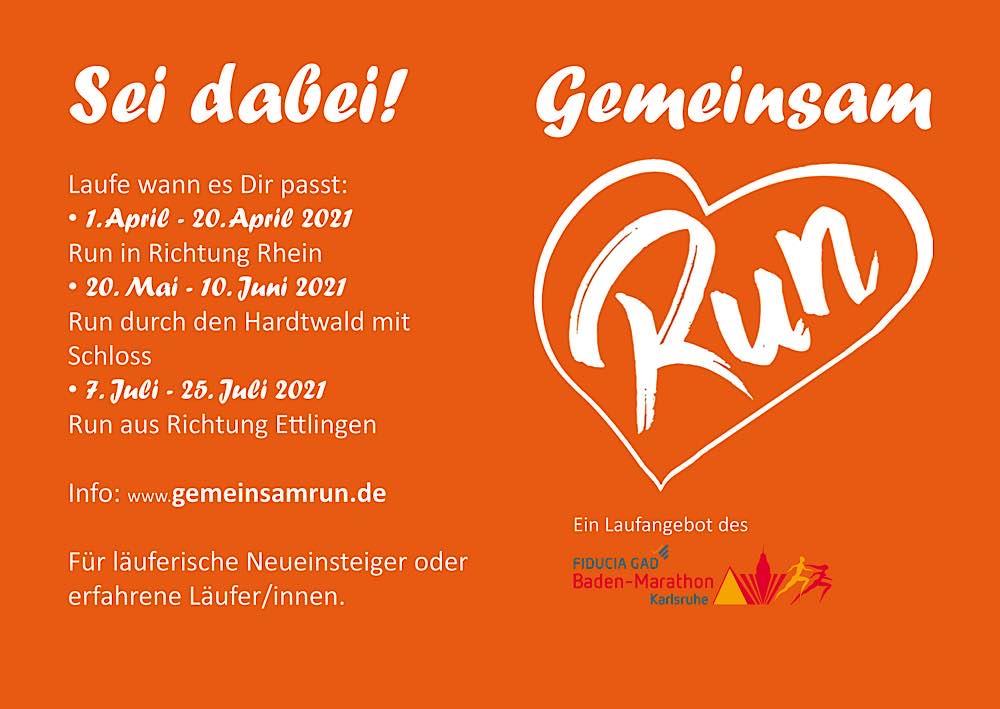 """Laufserie """"GemeinsamRun"""" (Foto: Marathon Karlsruhe e.V.)"""