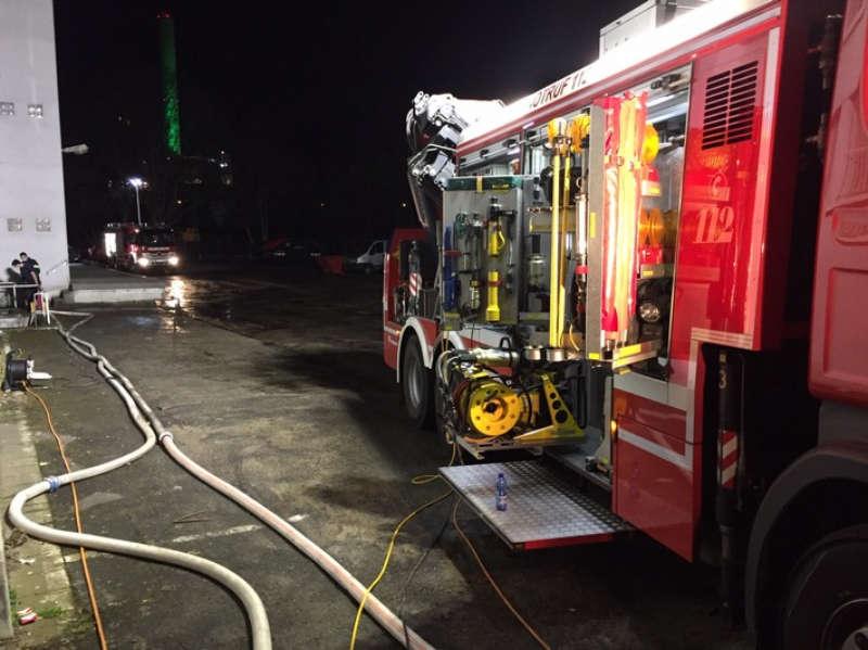 Wasserrohrbruch (Foto: Feuerwehr Ludwigshafen)