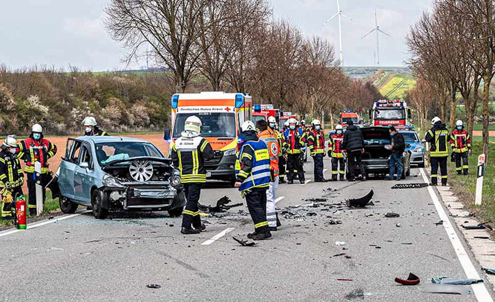 Verkehrsunfall auf der B47 (Foto: Helmut Dell)