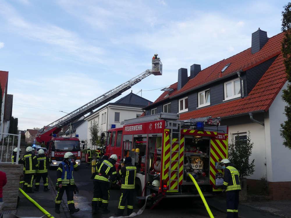 Feuerwehreinsatz wegen Kaminbrand (Foto: Feuerwehr Neustadt)