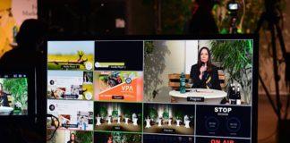 Behind the Scenes, Bildschirm des Live Streams (Foto: Weincampus Neustadt)
