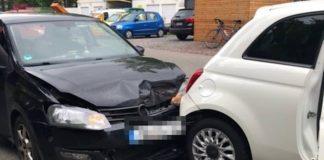 Die Unfallstelle in Lambrecht (Foto: Polizei RLP)