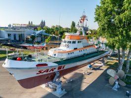 Der Seenotkreuzer John T. Essberger steht seit 10 Jahren im Technik Museum Speyer (Quelle: TMSP)