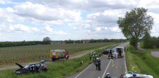 Die Unfallstelle (Foto: Feuerwehr Neustadt)
