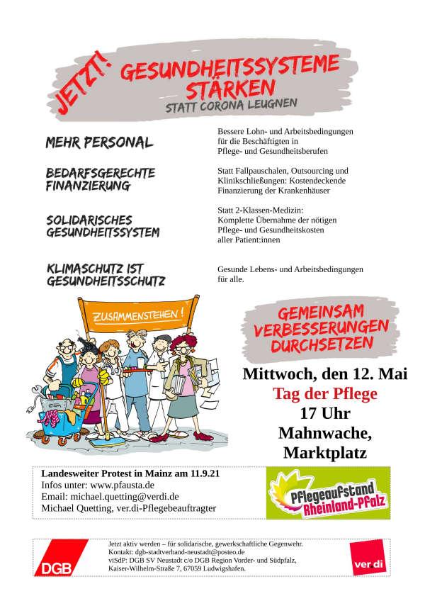 """Mach mit! Aktion """"Rote Karte für diese Politik"""" (Quelle: DGB Stadtverband Neustadt)"""