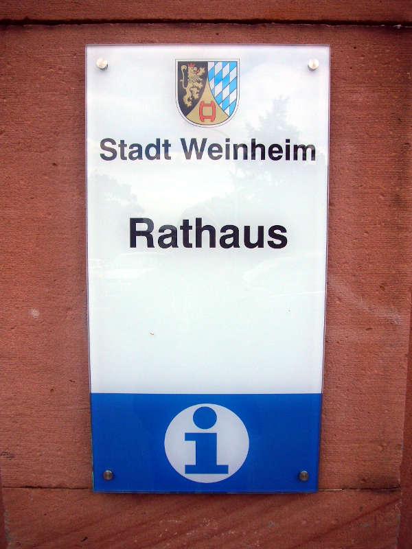 Rathaus Weinheim (Foto: Hannes Blank)
