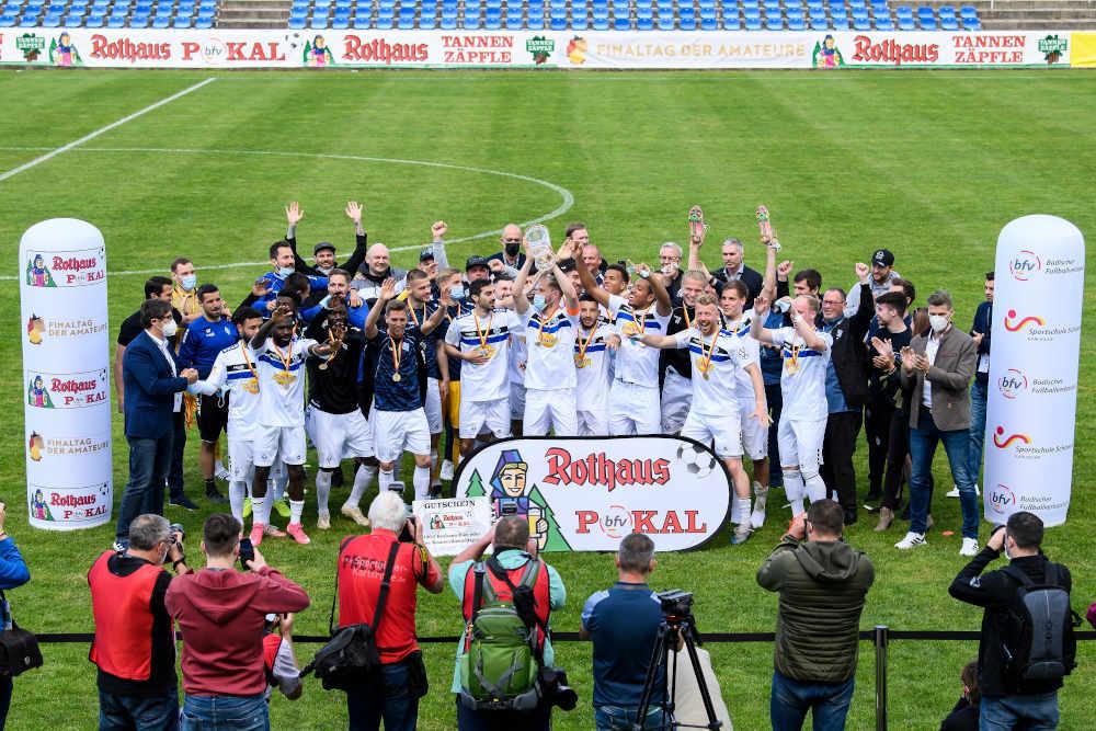 Siegerfoto bfv-Rothaus-Pokal (Foto: GES/Helge Prang)
