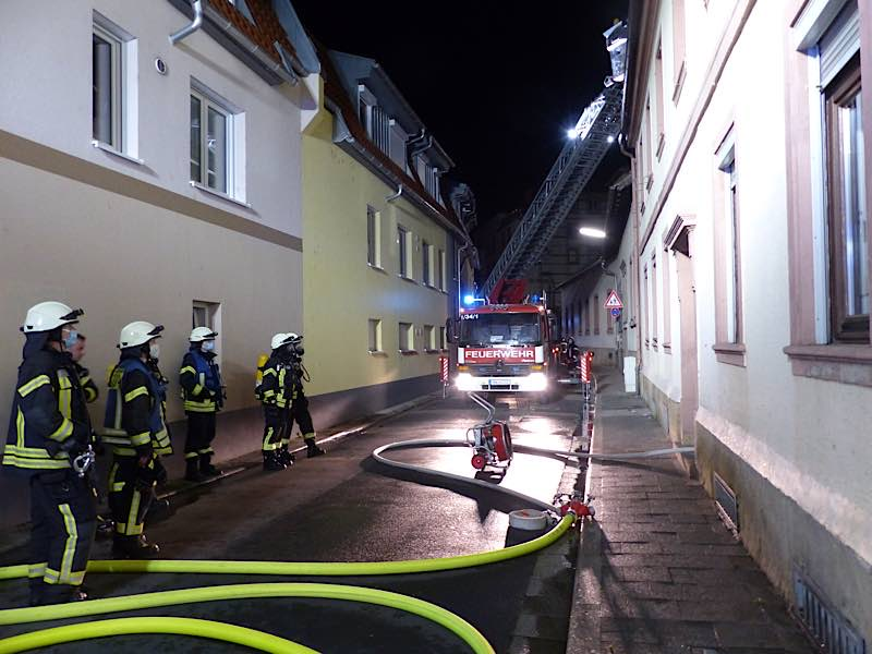 Brandeinsatz in der Sauterstraße (Foto: Feuerwehr Neustadt)