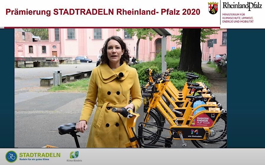 Videoansprache Ministerin Anne Spiegel (Screenshot YouTube/Umweltministerium RLP)