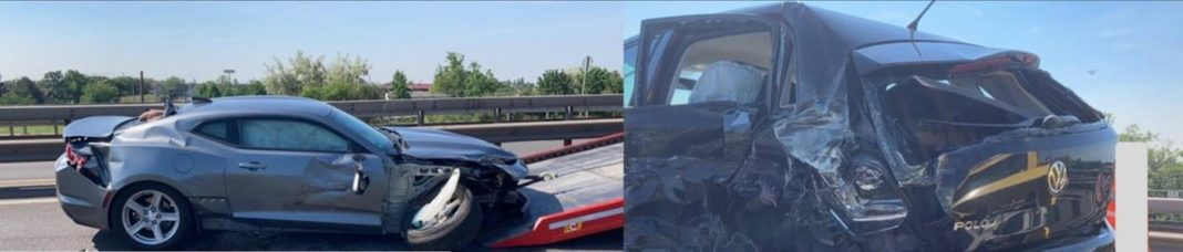 Verkehrsunfall auf der BAB 6 (Foto: Polizei RLP)