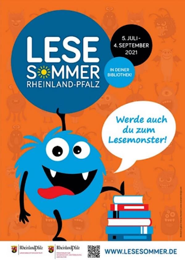 Lesesommer Rheinland-Pfalz 2021 (Quelle: Landesbibliothekszentrum Rheinland-Pfalz/Neumann Design)