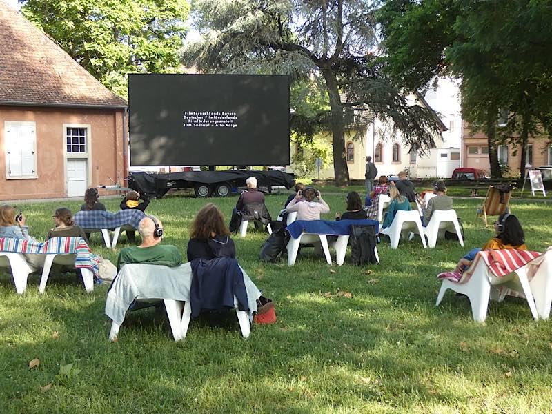Das Picknick-Kino in Karlsruhe-Durlach (Foto: Hannes Blank)