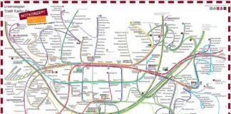 Liniennetzplan Betriebskonzept am 21. und 22. Juni (Quelle: KVV)