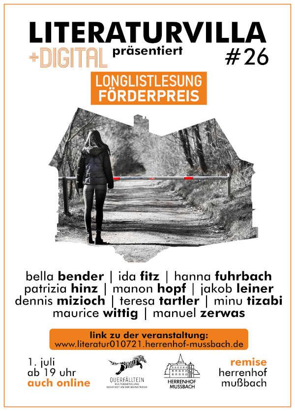 Longlist-Lesung Gustav-Adolf-Bähr-Förderpreis für Junge Literatur (Foto: Literaturvilla)