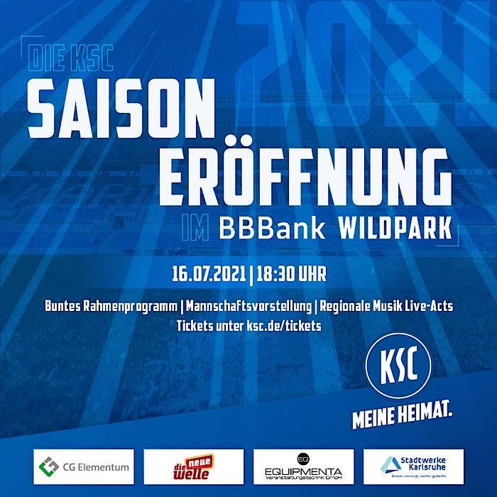 KSC-Saisoneröffnung 2021/22 im BBBank Wildpark (Quelle: KSC)