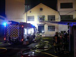 Brand in der Hambacher Mühle (Foto: Feuerwehr Neustadt)