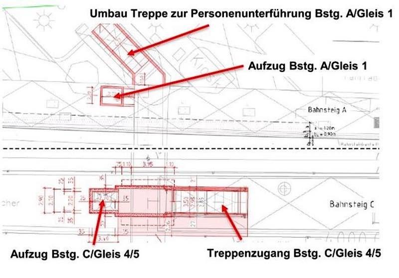 Ausbau Bahnsteig C Bahnhof Waldhof (Foto: VRN)