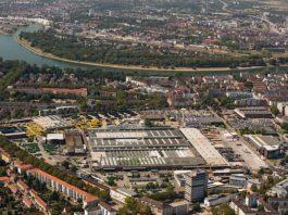 Luftbild des Werks Mannheim (Foto: John Deere Walldorf GmbH & Co. KG)