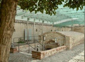 Eingang zur Speyerer Mikwe (Foto: Deutsche UNESCO-Kommission / Erik Hartung)